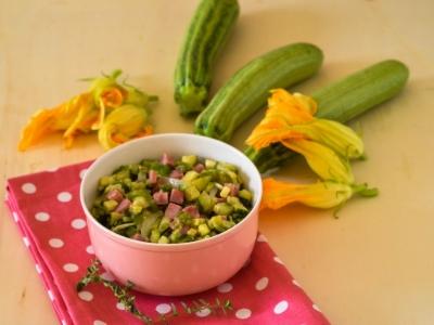 Zucchine trifolate con prosciutto