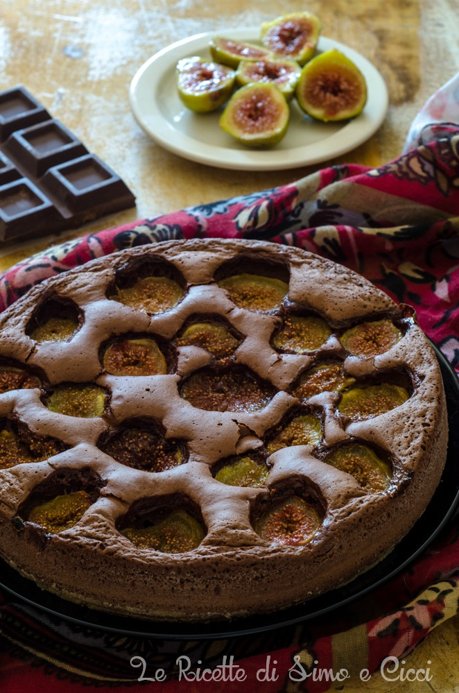 Torta fichi e cioccolato senza burro