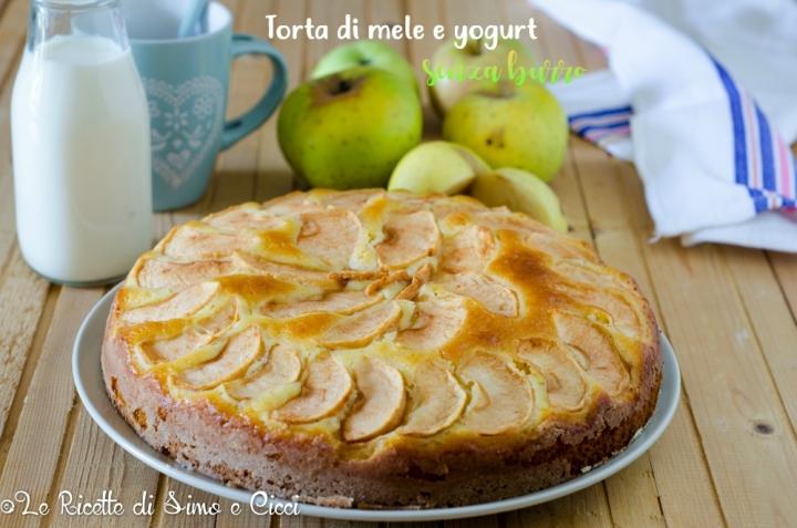 Torta di Mele e Yogurt Senza Burro