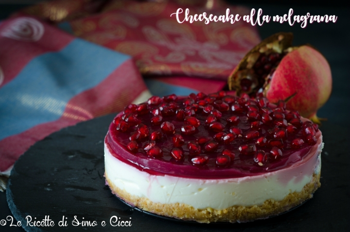 Cheesecake alla melagrana senza cottura