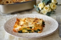 Lasagne tricolore con spinaci e mozzarella
