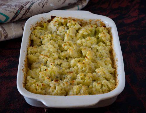 Cavolfiore gratinato al gorgonzola