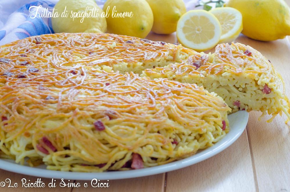 Frittata di spaghetti al limone