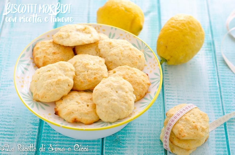 Biscotti morbidi con ricotta e limone