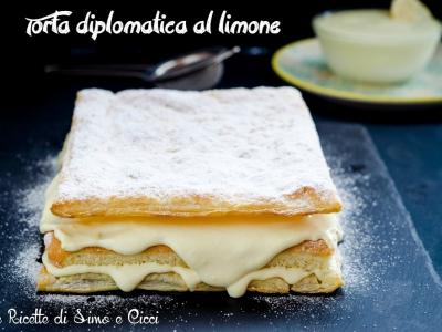 Torta diplomatica al limone