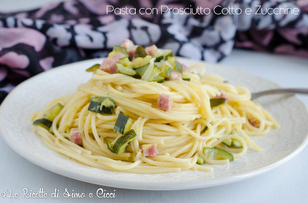 Pasta con Prosciutto Cotto e Zucchine