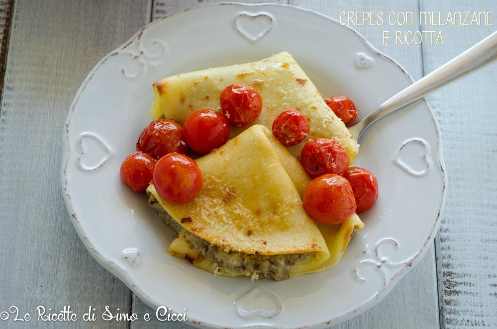 Ricetta crepes con ripieno melanzane