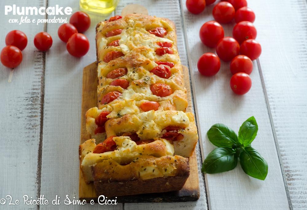 Plumcake con feta e pomodorini