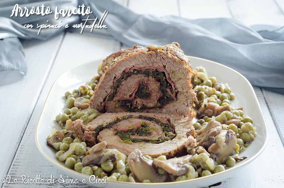 Arrosto farcito con spinaci e mortadella