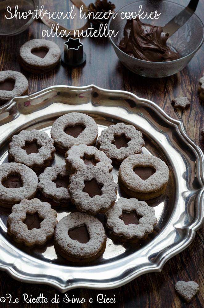 Shortbread linzer cookies alla nutella