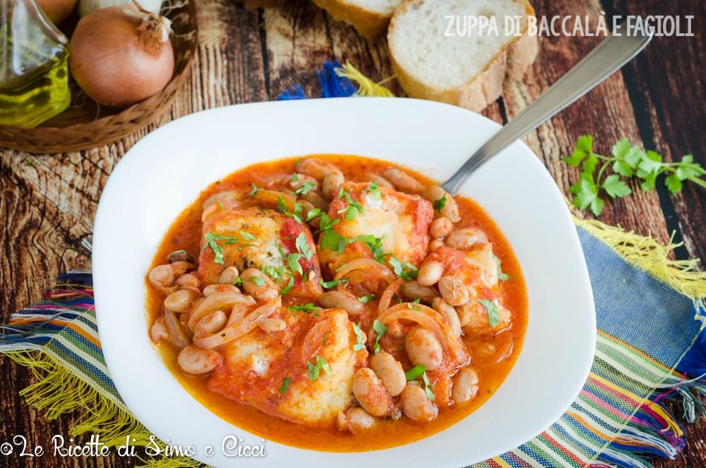 Zuppa di baccalà e fagioli