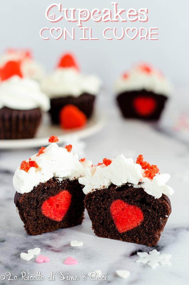 Cupcakes con il cuore
