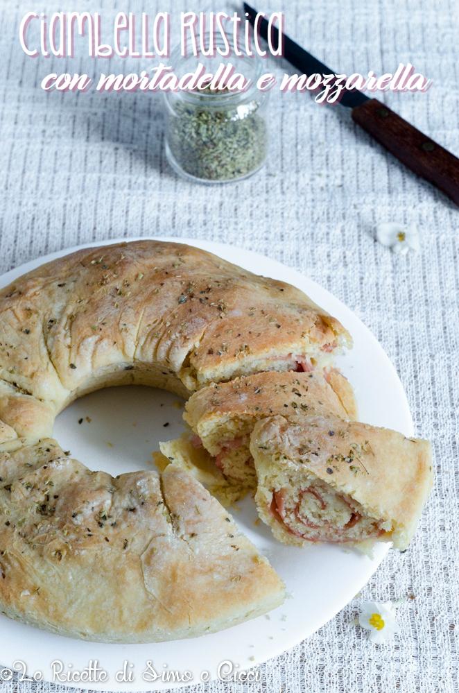 Ciambella rustica con mortadella e mozzarella