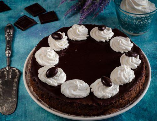 Cheesecake al cioccolato cotta