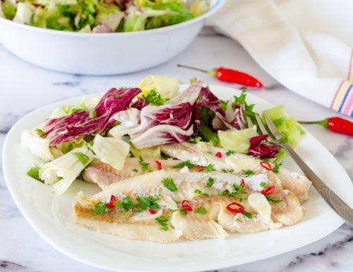 Filetti di merluzzo aglio olio e peperoncino