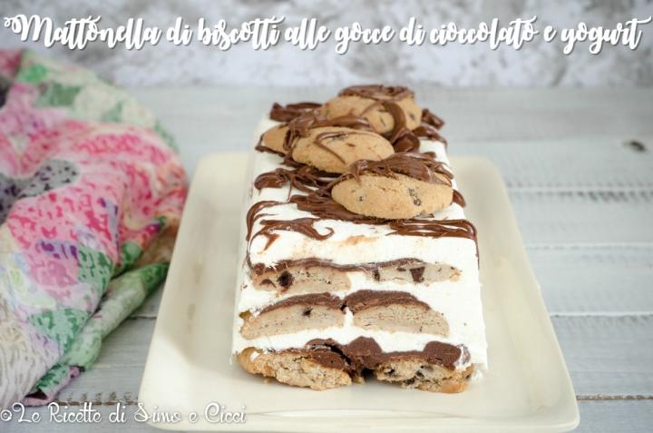 Mattonella di Biscotti alle Gocce di Cioccolato e Yogurt