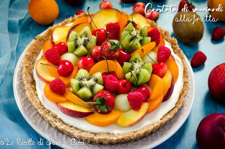 Crostata di savoiardi alla frutta