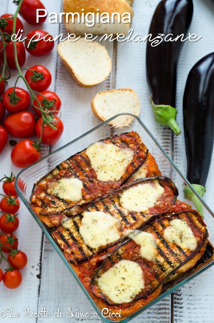 Parmigiana di pane e melanzane