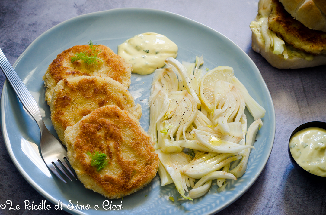 Hamburger di pesce e patate