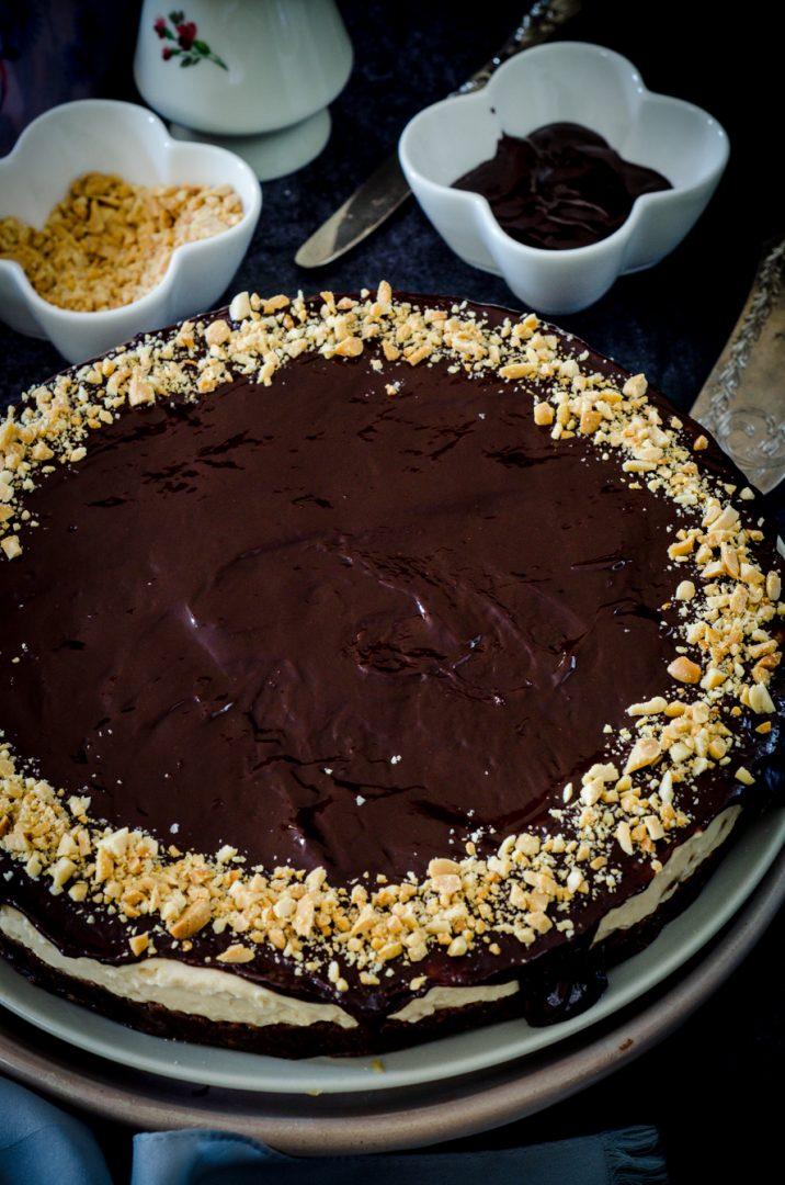 Cheesecake al burro di arachidi senza cottura