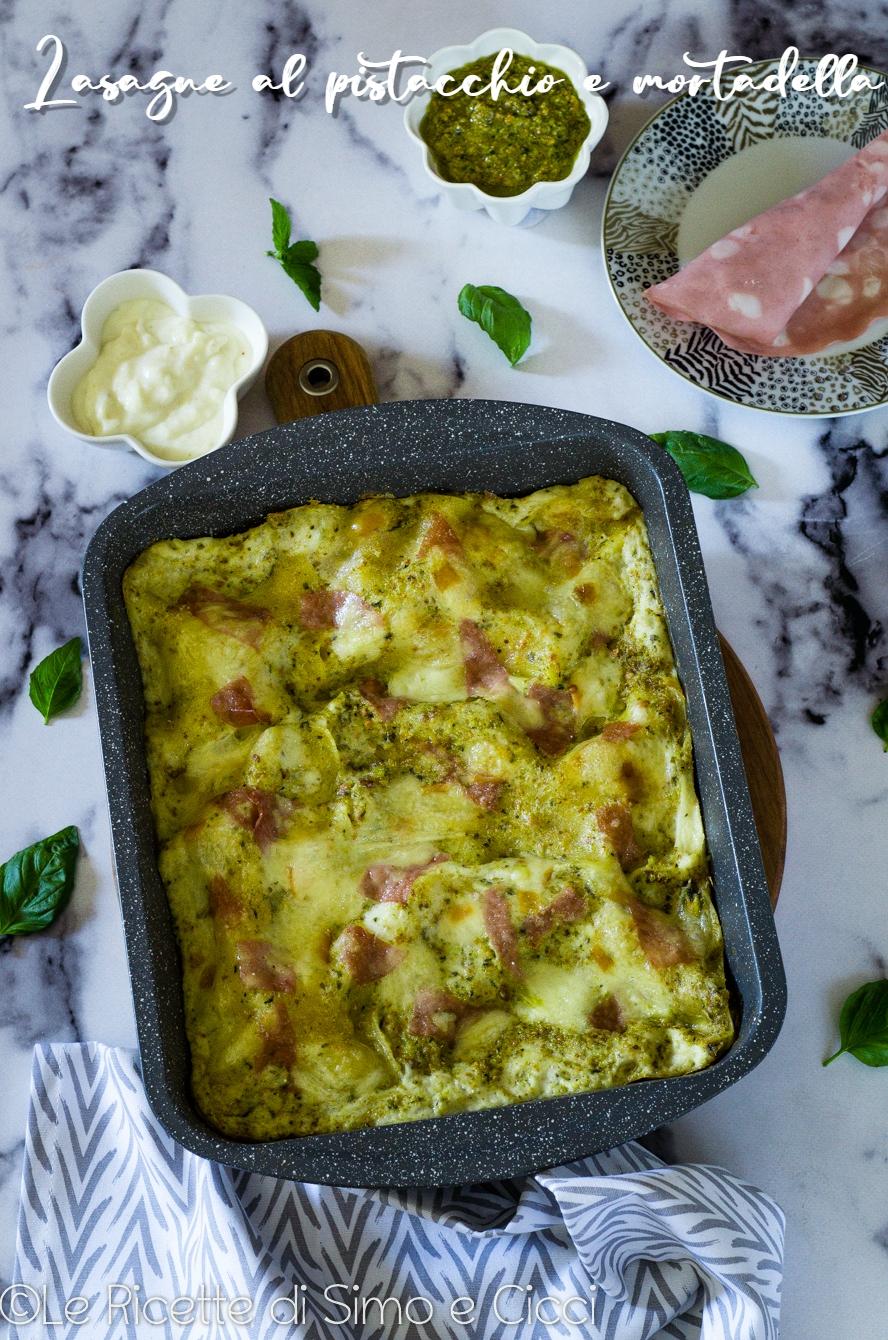 Lasagne al pistacchio e mortadella