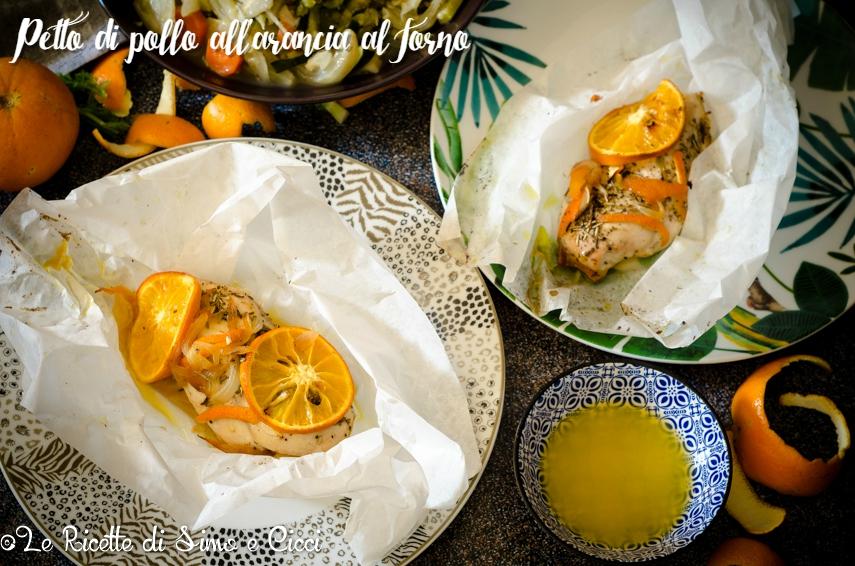 Petto di pollo all'arancia al forno