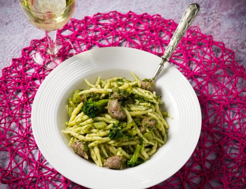 Trofie broccoli e salsiccia