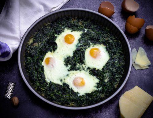 Uova e spinaci al forno