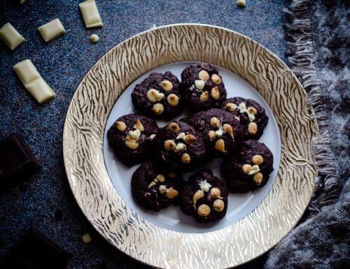 Cookies al triplo cioccolato