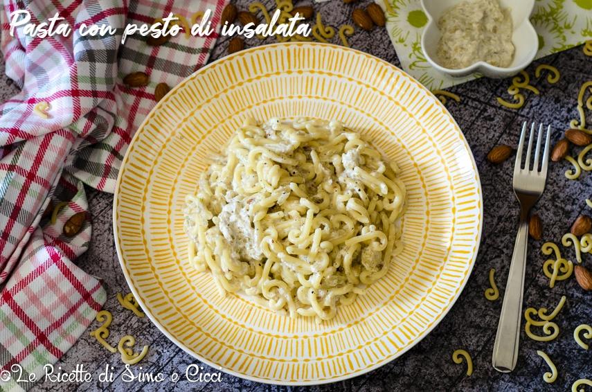 Pasta con pesto di insalata