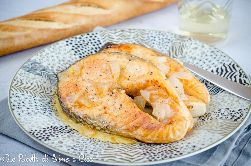 Salmone marinato in padella