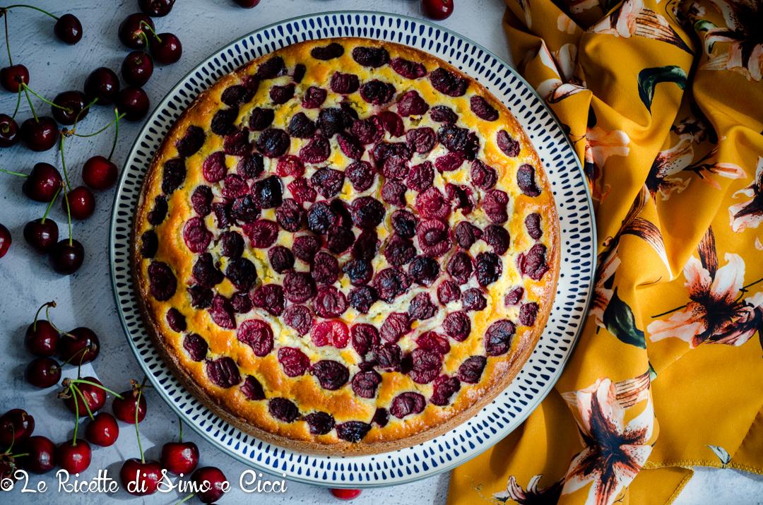 Torta alle ciliegie senza burro