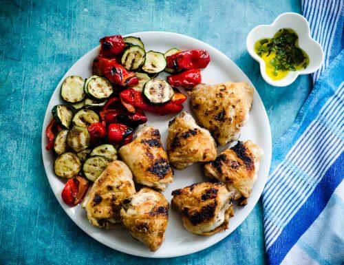 Pollo grigliato con verdure
