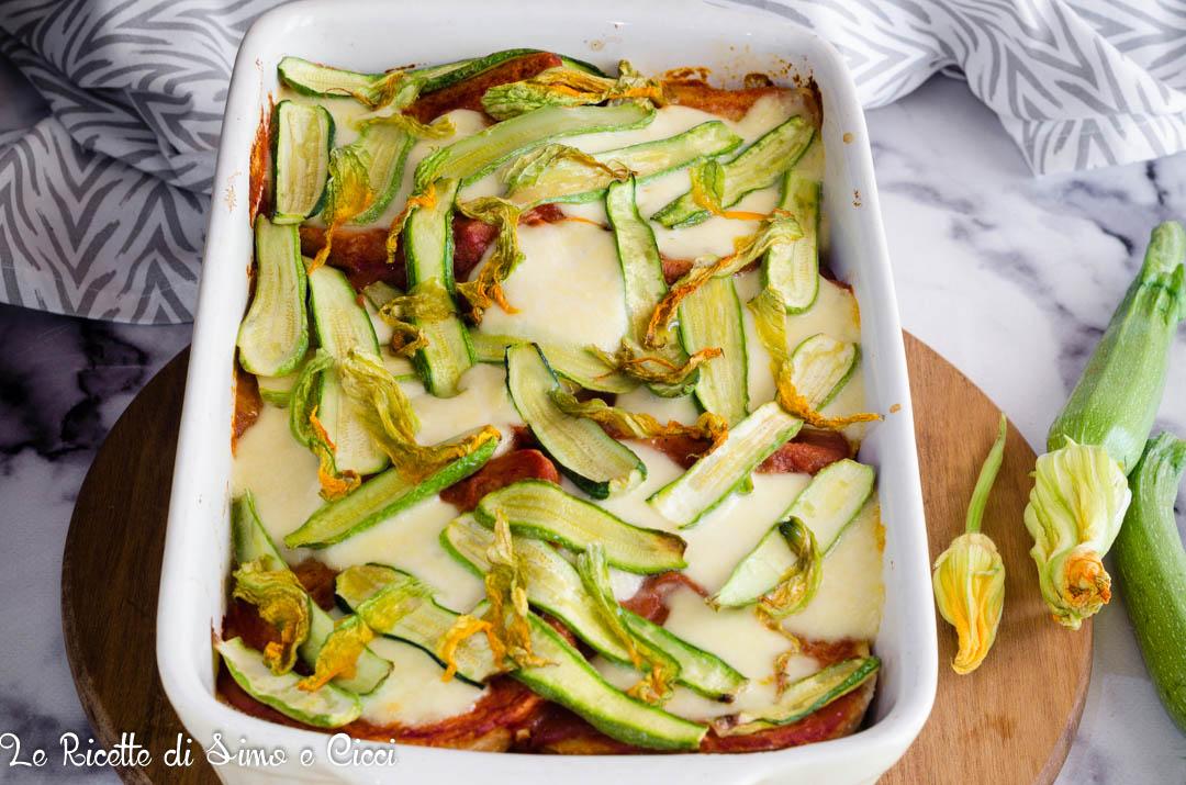Torta di pane zucchine e mozzarella