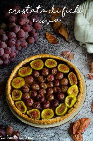 Crostata di fichi e uva