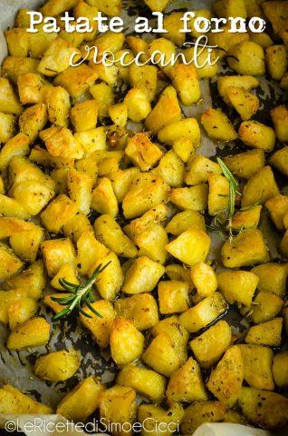 Patate al forno croccanti fuori e morbide all'interno