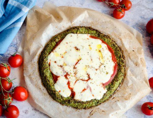 Pizza di broccoli senza farina e senza lievito