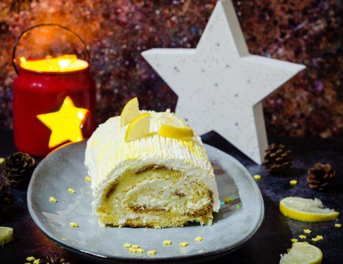 Rotolo di pandoro con crema al limone