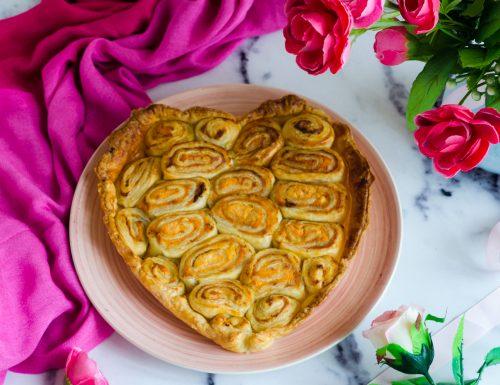 Cuore di rose di sfoglia salate
