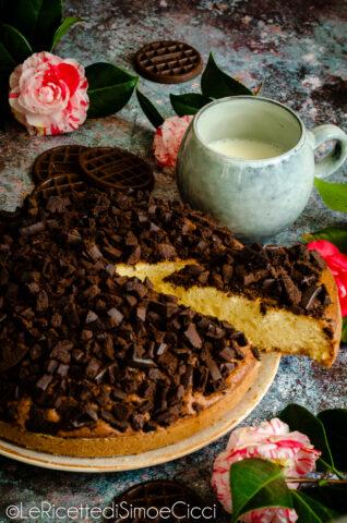 Torta soffice con biscotti al cioccolato