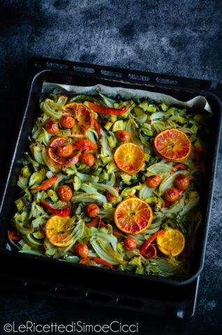 Verdure al forno croccanti