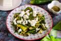 Insalata di zucchine grigliate feta e rucola