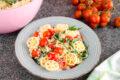 Pasta fredda ricotta pomodorini e rucola