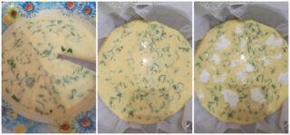procedimento per frittata basilico