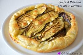 Quiche di Melanzane grigliate e Mozzarella