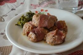 Involtini di speck e carne