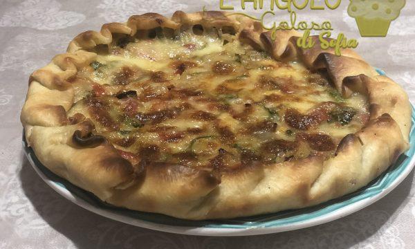 TORTA SALATA ZUCCHINE e PROSCIUTTO, ricetta facile e veloce (Bimby e non)
