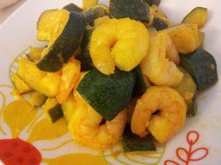 Gamberi con zucchine