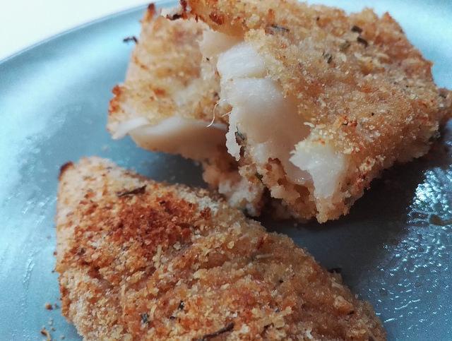 Filetti di merluzzo impanati al forno
