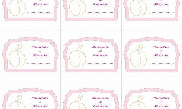 Etichette stampabili – Marmellata di albicocche